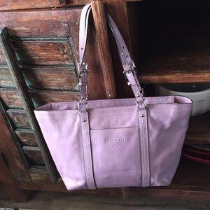 Large Coach Lilac Soft Leather purse
